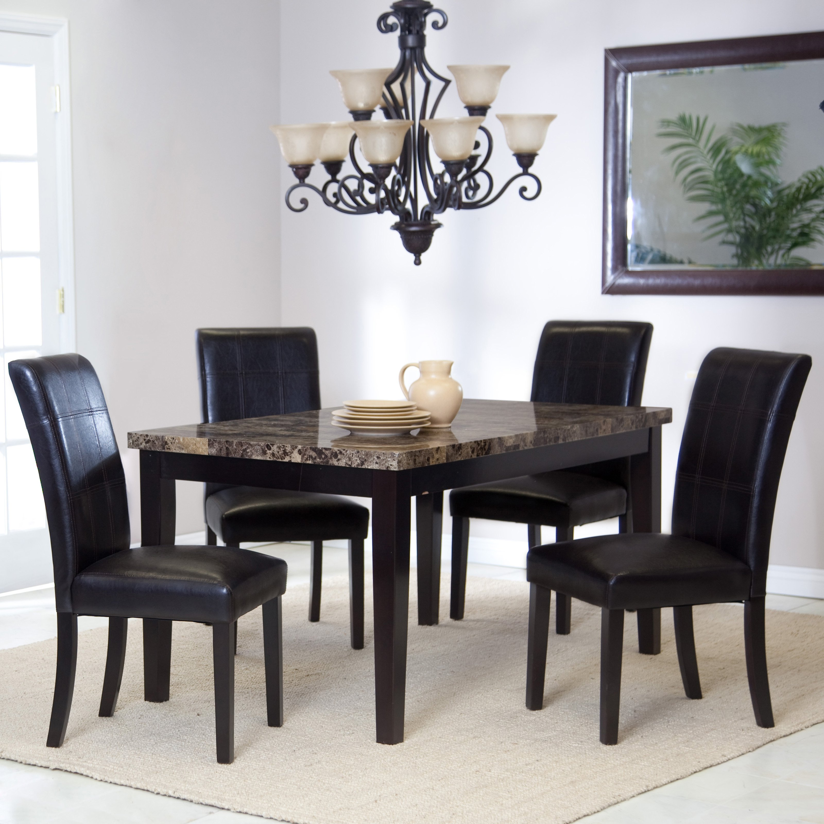 Unique black dining table and chairs palazzo dining table | hayneedle hgxfdfs
