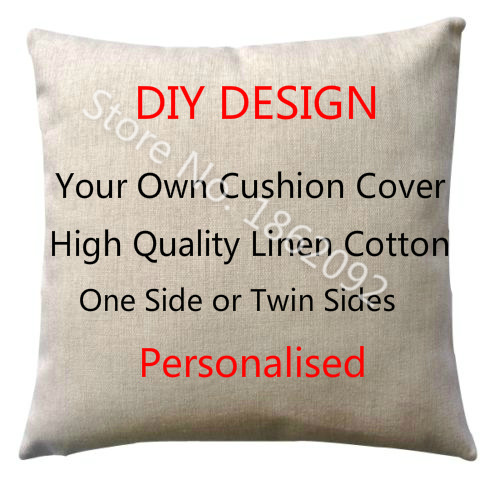 Unique custom made cushion covers personalized cushion cover linen personalised custom throw pillow case your  customized design myxvnxz
